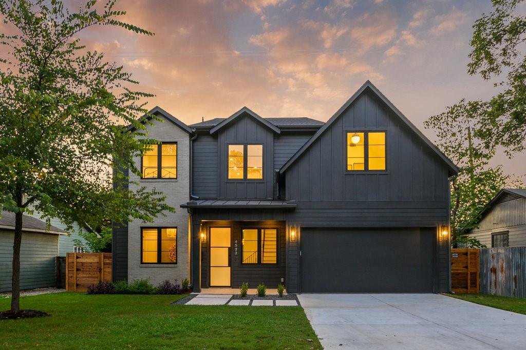 Gorgeous brand new build located in Central Austin. This smart home features designer finishes throughout with tons of luxury details.  Home features include: STC (sound transmission class) upgraded glass windows, pre-wired for security system & cameras, WIFI controls for irrigation, garage door opener & security system, WIFI/smart thermostats, spray foam insulation, tankless water heater, 2 AC's & furnace. Offers an office suite and bonus room in addition to 3 bedrooms. Please see attached docs for our full features list, design boards, and floorplan. Comes with builder warranty: 1-2-10.