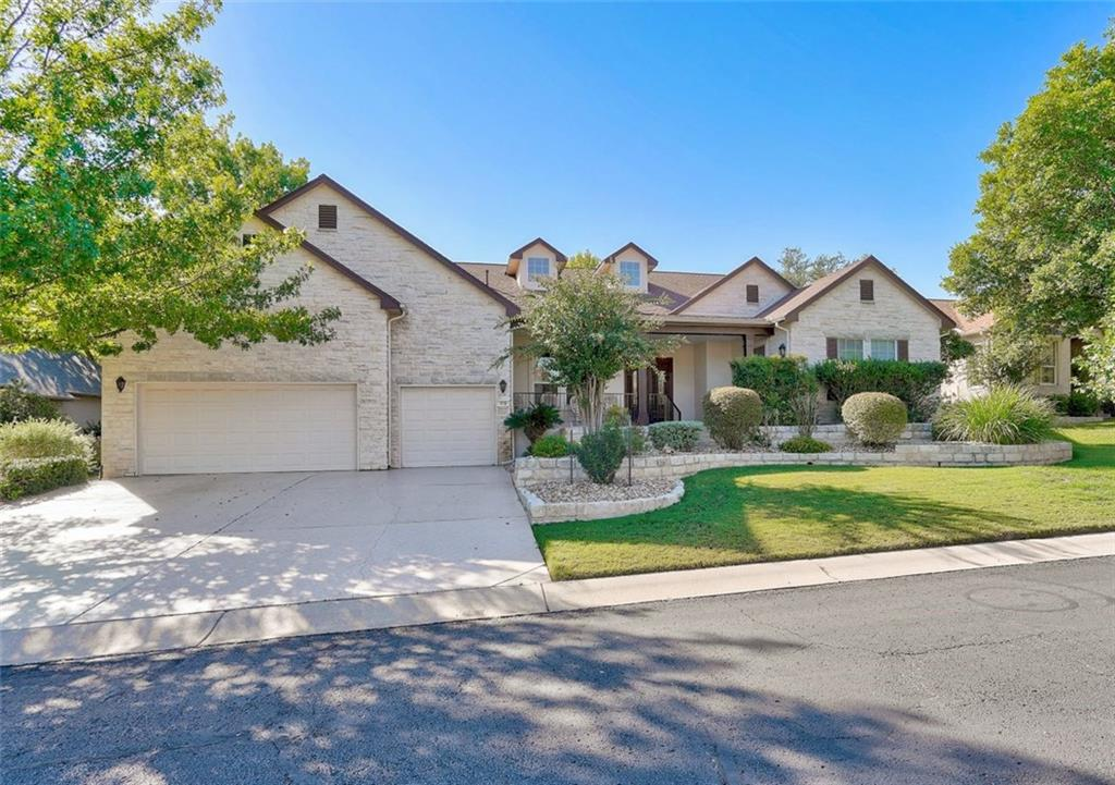 This home is located on one of the prettiest streets in Sun City. It is on the #3 fairway of Legacy Hills golf course. Step in to the spacious open family room with tiled fireplace. Shelving on either side of the fireplace.  Home has office area with lots of storage. Limestone tiled front porch. The kitchen is open to the dining area and family room. Large primary bedroom is large enough to add a sitting area of study with ensuite bath. Second bedroom also features ensuite bath. Wet bar overlooks the family room. Oversize garage includes golf cart stall. This is the Austin floorplan.