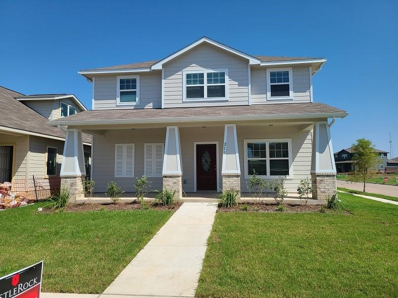 "CastleRock Communities Lillie is ready now!! Great room with open concept offering casual dining area in the kitchen! Gameroom up with spacious secondary bedrooms! The home has a tile in all the wet areas, luxury master bath with dual vanities, optional kitchen island, granite counters at kitchen, 42"" kitchen cabinets, full sod, full sprinkler system, large front porch, rear covered patio, and it is on a corner lot."