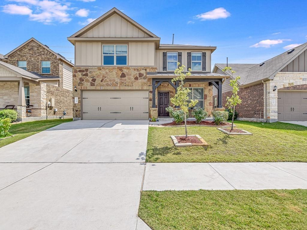 Just minutes from downtown Hutto & The CO-OP District. This home has lot's of upgrades to be enjoyed! Tankless water heater, water softener, Farmhouse sink, Upgraded cabinets, built in gas stove, Huge walk in master shower and much more.    Real hardwood flooring throughout common areas downstairs. Two full baths upstairs - bonus bathroom upgrade is onto an upstairs bedroom and is perfect for guests or teenagers.  Plenty of flex space to give you plenty of room to make this home your own.