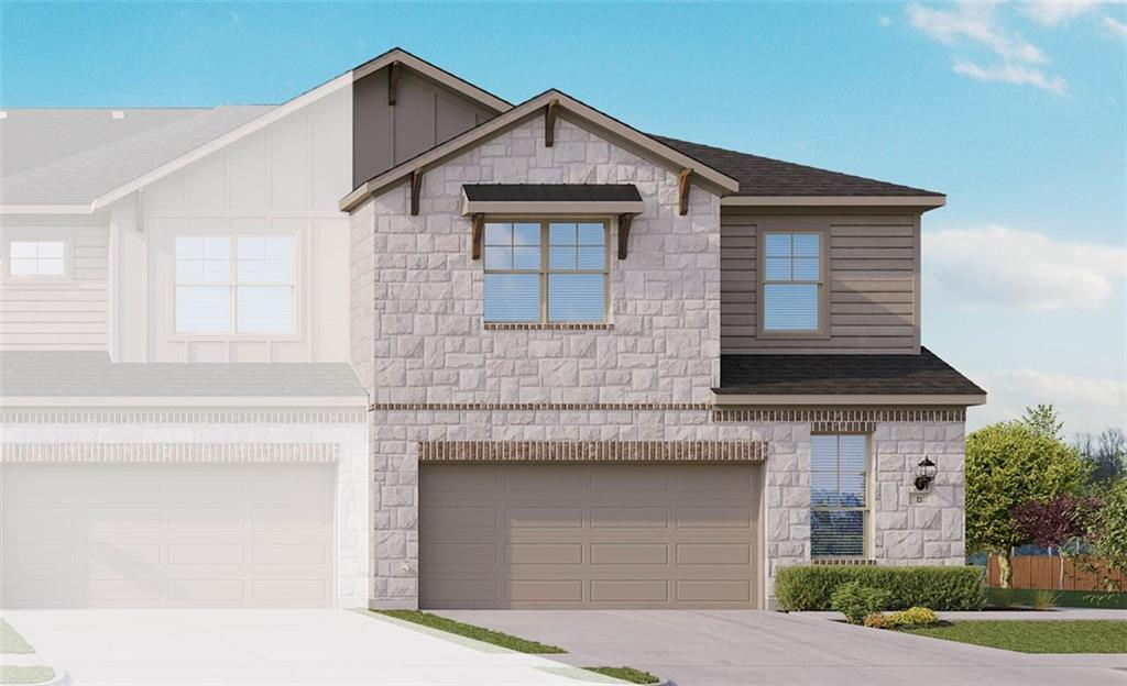 """Yosemite F plan with wood patterned vinyl plank flooring throughout, stainless steel whirlpool appliances, granite kitchen counters, double vanity in master and bath 2, walk in master shower with seat, white cabinets with 42"""" uppers, walk in closets. Available March."""