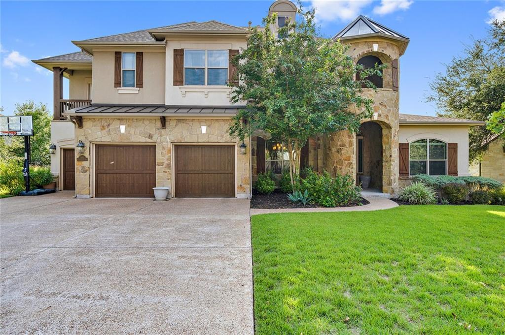 Leave the big city behind-welcome to South Austin's most sought after community, Circle C. Gated section at The Fairways 2. BACKS TO GOLF COURSE! This 4200+SF home offers everything for those looking for luxury, function and space. On main level: Breathtaking foyer-floor to ceiling open to upstairs. Formal dining and private home office.  Great room is the heart of this home. Family room is made for cozy family movie night with corner fireplace, many large windows, custom built-in entertainment wall.  Family room is open to breakfast area and homes central smart zone. Learn, work, and shop from home easily with extensive storage, organization and networking capabilities.  DREAM kitchen: double oven, gas cook top, vegetable sink, endless countertop and cabinet space, large pantry, center island with maximum storage at base. Enjoy the golf course view from here or step outside into your outdoor living and dining space appointed with TV niche, fireplace, full kitchen and service area. Upstairs; wood floors, large game room, primary suite, two secondary bedrooms with hall bath. Primary suite; double doors, wood floors, flex space (office/gym/nursery/dressing area). Huge spa worthy bath with jetted, soaker tub, walk-in shower with frameless glass.  Massive closet with custom storage and organizers.  The storage and function of this home are incomparable! One owner. Meticulously maintained, immaculate home. A FEW extras: Double cul-de-sac for ultimate privacy and limited drive-through traffic. Less than 30 minutes from ABIA. 10 miles to downtown Austin. Easy access to: 1826, Mopac, 290/71, 45. Pool design (rendering only) available upon request.