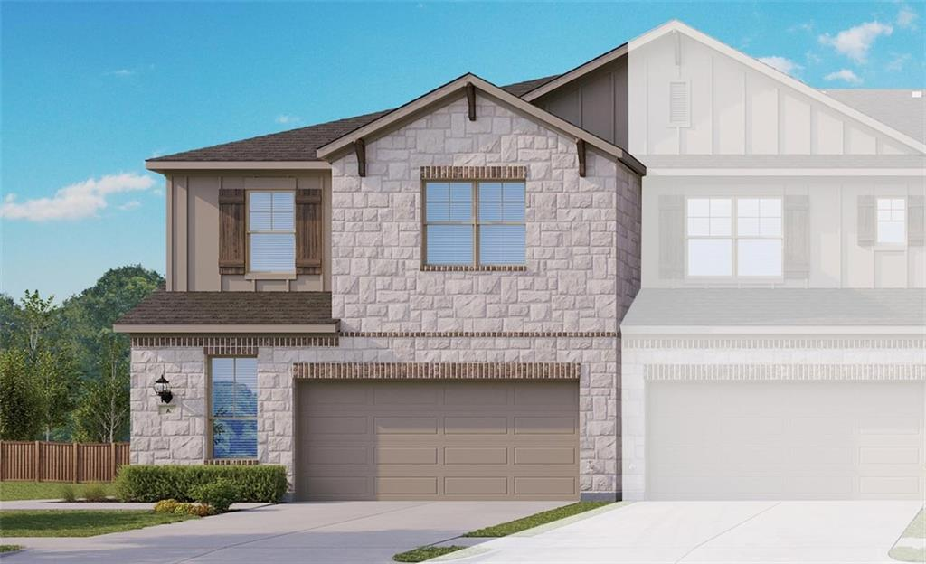 """Yosemite A floor plan with features that include white kitchen cabinets with 42"""" uppers, wood patterned vinyl plank flooring, stainless steel whirlpool appliances, granite kitchen counters, double vanity in master bath and bath 2, walk in master shower with seat, walk in master closet. Available February."""