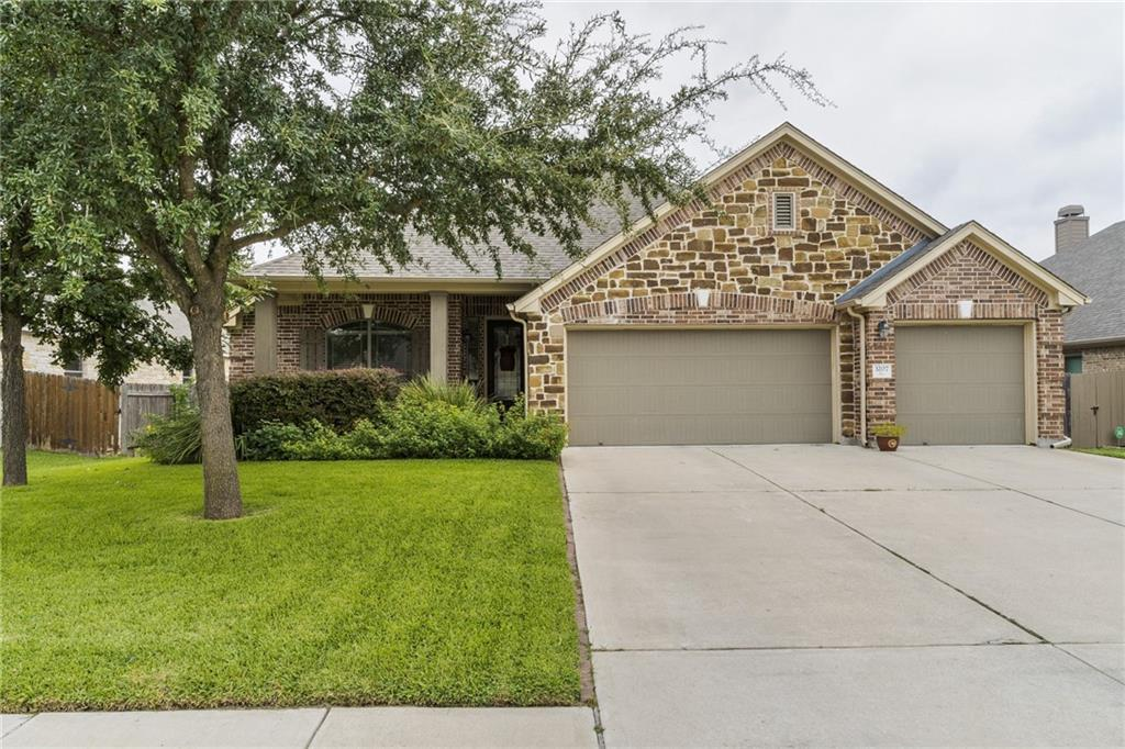 Enjoy the beautiful view and sound of running water from the backyard deck overlooking the Brushy Creek!   This gorgeous single story has 4 bedrooms, 3 full bathrooms, study/office area and a 3 car garage.  Kitchen is open to the living area with stainless appliances and granite counter tops!  Large primary bedroom and bathroom with dual vanities, walk in shower and garden tub.  The backyard does not disappoint with a deck overlooking the running waters of Brushy Creek ready for entertaining and a covered patio ready for grilling or unwinding from a long day!  Walk to the community pool and playground right around the corner, or enjoy the walk/jog trails.  Easy Access to 183A, Ronald Reagan and 1431.  Leander ISD, Vista Ridge High School, Stiles Middle School and Akin Elementary.