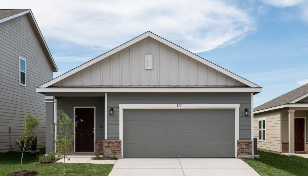 Lovely 3 bedroom 2 bath single story home featuring many included features such as granite kitchen countertops, stainless steel appliances including refrigerator, LED lights, fenced in fully sodded yards and Low-e windows.  Make this home yours today!