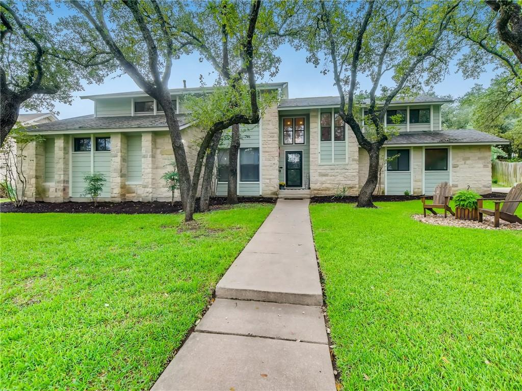 """Stunning Classic Home in Spicewood at Bullcreek that is remodeled inside and out. This truly is a one-of-a-kind Home that you must see in person to capture all the details. Open Kitchen w/ high-end handcrafted cabinetry, Quartz countertops, Decor -6 Burner Gas Cooktop, 2-Dishwashers, SS Double Ovens, 2 FarmHouse Style Sinks, Reclaimed Milwaukee Brick backsplash, & Pot Filler. Too many features in the Kitchen Alone to Mention! This private home nestled under Soaring Oak Trees backs to greenbelt with views of what used to be the Golf Course for great privacy. Master Suite & Spa on main floor with Antique doors, Shiplap walls, Custom Vanity, Huge Multi-Head Custom Shower, Elegant Soaking Tub, and custom walk-in Master Closet. Cozy Custom detailed office downstairs with Powder Bathroom features fun Vintage Details. Mud Room walls are lined with Mississippi """"Sinker Pine"""" Wood and Custom shelves/Storage Space. Laundry Room Features: Large Custom Storage/Shelving, Sink, and Laundry Chute. Very Spacious 3 Beds & 2 Full Baths upstairs with one room that is large like a Second Master Suite. Gameroom upstairs has beautiful built-in shelves, Wood pallet walls, and lots of windows for natural light. Great updates include: Engineered Hardwood Floors, Tankless Heaters, Recessed Lighting, Updated Hardware, Dramatic Fireplace, Coffee Bar, High Baseboards & Wood Entertainment Center.  Ideal Home To Entertain and Enjoy All that Spicewood/Balcones has to offer! Westwood High, Canyon Vista & Spicewood,RRISD"""