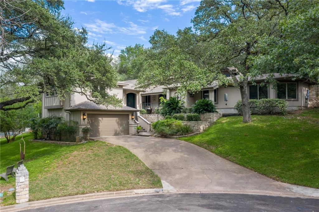 Nestled among mature trees and neighbor to Barrow's Nature Preserve, you'll find this beautiful one-of-a-kind home which is conveniently located near all the wonderful amenities Austin has to offer. As you approach the home, feel the tranquility of the the beautiful fountain and peaceful nature surrounds. Once inside you'll enjoy gorgeous hardwood floors that welcome you into an open concept living room, kitchen and dining. The kitchen provides all modern appliances to include double-oven, gas range, wine refrigerator, and sub-zero refrigerator/freezer. All of the bedrooms are nicely sized and the bonus room has a full bath so it can be used for additional living or as a 2nd primary bedroom. Looking for a place to unwind from the day or to get a bit of exercise in . . . walk out on the back patio and play a round of basketball on the sports court or sit back with a glass of wine and watch wildlife. If you are looking for convenience but needing luxury and a place to unwind, you have got to see this one!