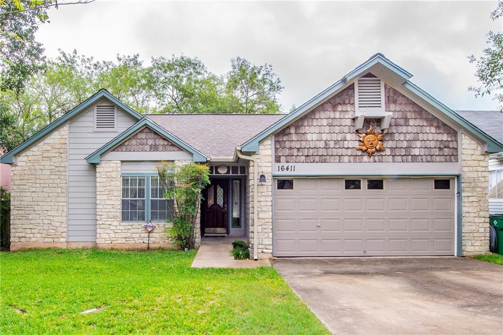 A cute 4 bedroom, 2 bath house in the Windermere Subdivision. House has upgraded LVP flooring, new paint, stone/tile shower in master bath, upgraded kitchen cabinets and beautiful granite countertops. Privacy fence, well kept lawn, covered back porch, 10'x12' storage shed & storage behind garage door. Easy commute to schools, restaurants, downtown Austin and RR. If you are looking for a wonderful move-in ready home, in the rapidly growing Austin Area, for a great low price, this is the home for you!