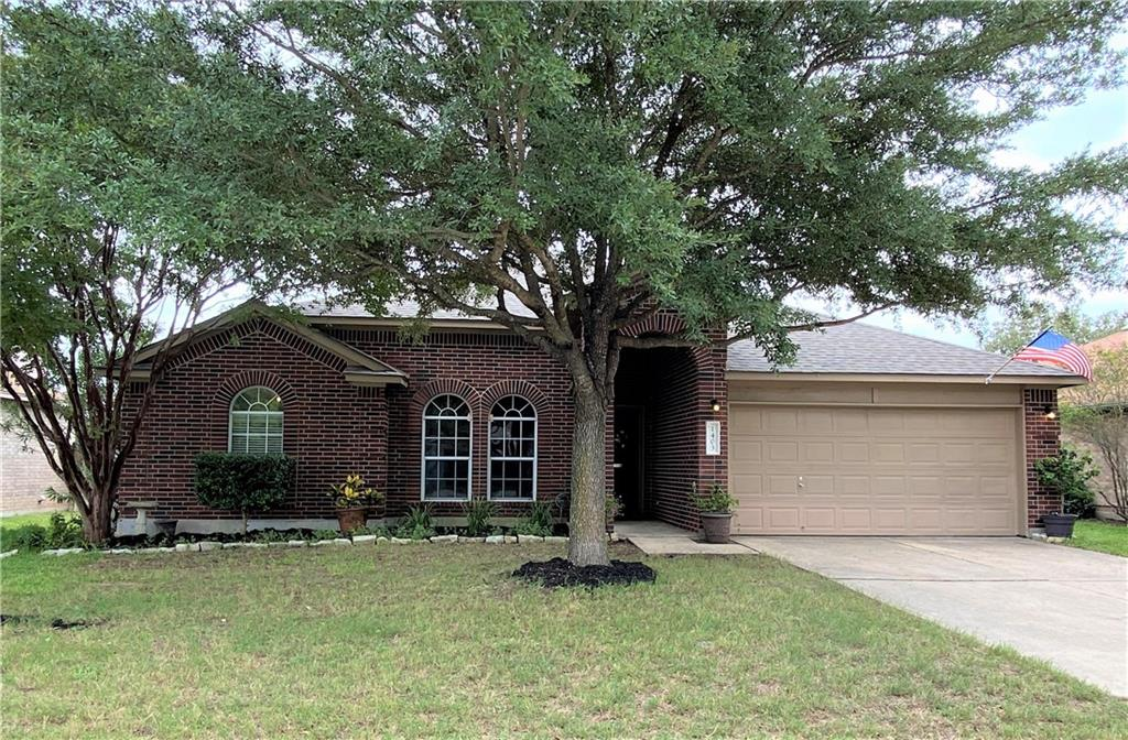 Updated & well maintained single story home located on quiet cul-de-sac street. Roof (2017), new HVAC (2020), laminate flooring & oversized tile (2010) throughout home (no carpet) make this home move-in ready. Bright kitchen is open to the family room with a cozy, corner fireplace and designer paint. Entertain in the 2 large dining areas. Primary bedroom with en-suite bathroom (including double vanity, garden tub, separate shower and large walk-in closet) offers up options for multiple furniture placements. Secondary bedrooms on opposite side of home with large closets. Hall bath with linen closet. Water softener conveys. Enjoy quiet evenings on the covered patio and private backyard. Storage shed (2015 for $2500) for yard tool storage. Neighborhood amenities include community pool, sport court and playground within walking distance.