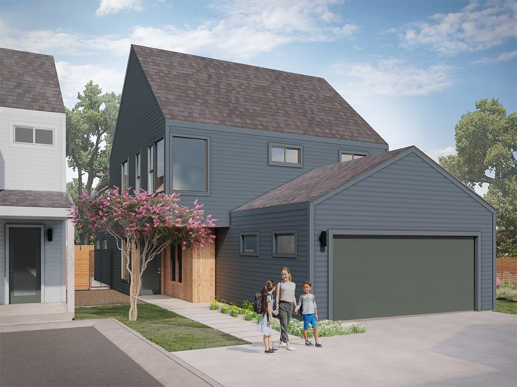 This 4br/3.5 ba, 2129 sq. ft. home is one of just 12 in a boutique neighborhood with community pool and greenspace. Main floor: open plan kitchen, dining, and private primary bedroom suite. Second floor – 3 br + loft, 2 baths. Washer/dryer up. 2-car garage. Solar panels, tankless water heater, and spray-foam insulation give you energy efficiency. Large, fenced backyard gives you room to play. South Austin's coveted Menchaca neighborhood in a lovely grove of mature oaks. Private Community Pool.