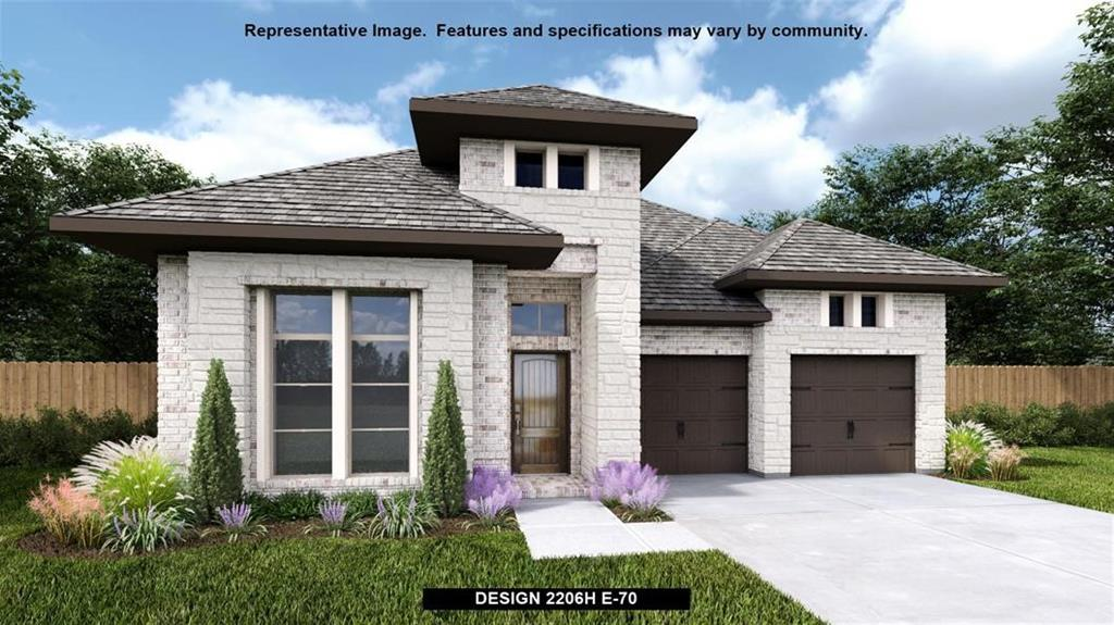 Perry Homes New Construction! Home office with French doors set at entry with 12-foot ceiling. Open island kitchen offers generous counter space and corner walk-in pantry. Dining area flows into open family room with wall of windows. Spacious primar suite. Double doors lead to primary bath with dual vanities, corner garden tub, separate glass-enclosed shower and large walk-in closet. Abundant closet space and natural light throughout. Extended covered backyard. Mud room leads to two-car garage.