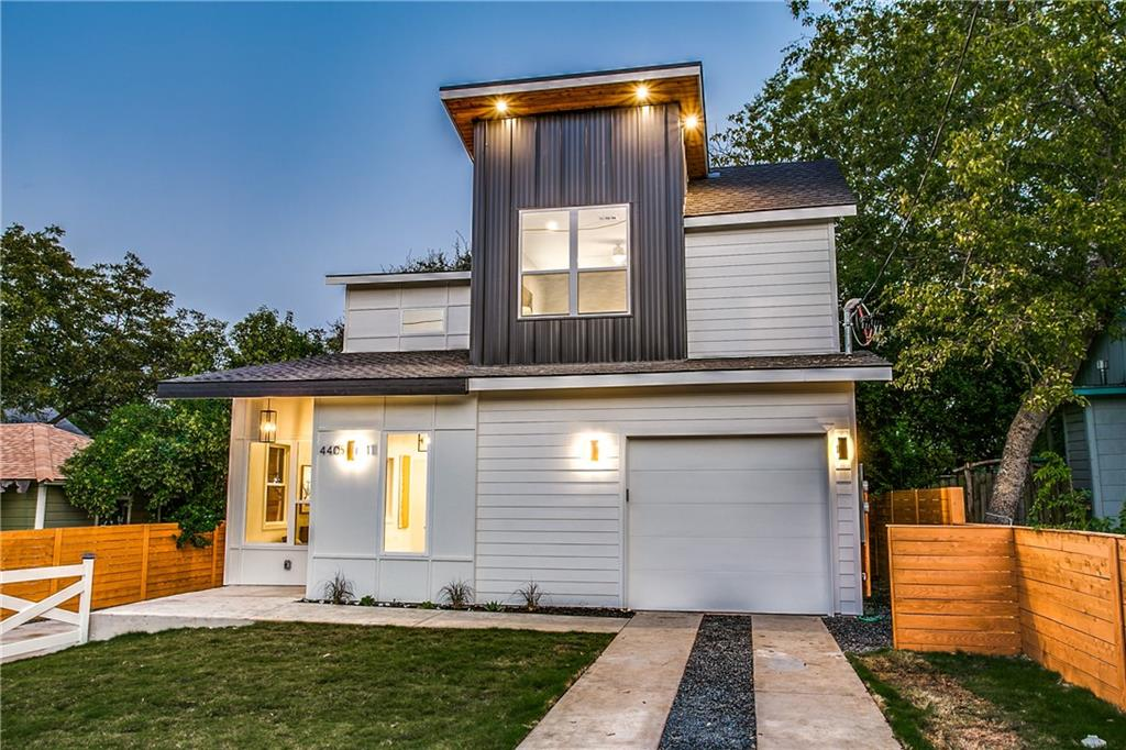 This stunning modern home is nested the heart of south Austin. A unique floor plan that features 4 bedrooms and 3 full baths. Interior offers high end finishes throughout. A Custom wood handcrafted staircase, media room wired for surround sound, the main walk in shower with massaging water jets and a rainfall shower, Led his and hers mirrors, wood floors throughout, quartz countertops, track lighting (kitchen). High ceilings. Enjoy the open floor plan ideal for entertaining and or having guest the first floor room can be used as an office and or an extra guest room. Just minutes away from Downton and South congress!