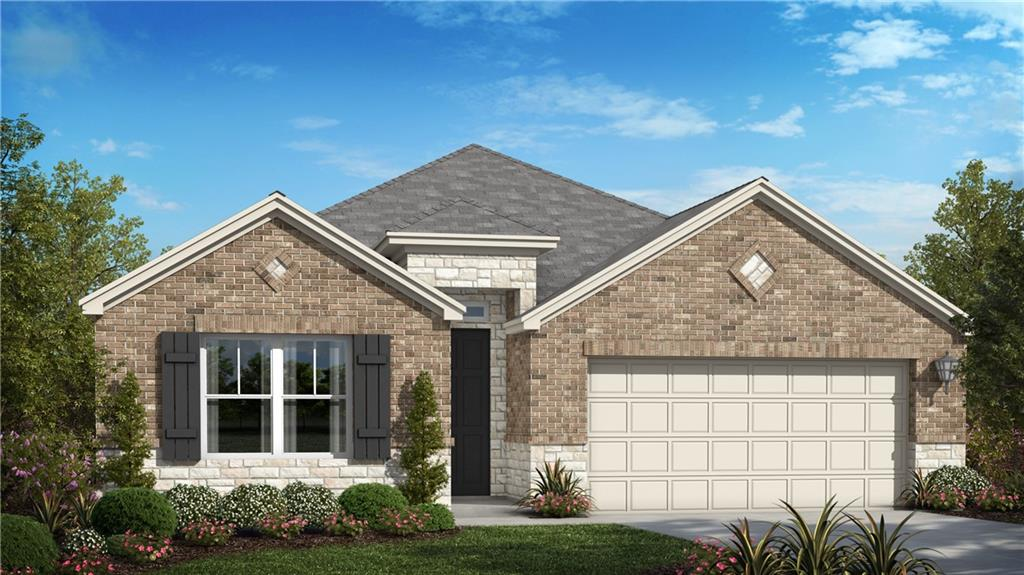 """Our popular 1 story plan, the Sawyer is 1,638 with 3 bed, 2 bath, 3 car garage, large eat in kitchen, and extended covered patio!  There are many interior upgrades including beautiful vinyl wood flooring throughout most living areas, built-in stainless-steel appliances with 36"""" cook top and hood vent, granite/quartz counter tops in kitchen and all bathrooms, along with many other thoughtful touches."""