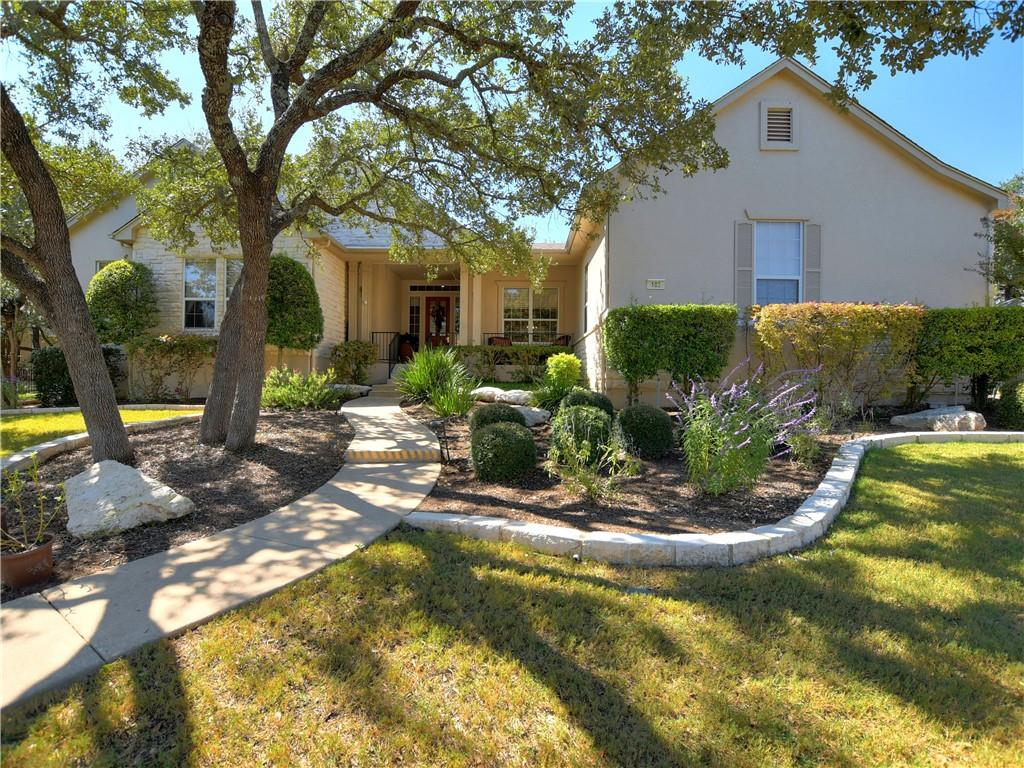 Located on a quiet cul-de-sac in the Del Webb Estate Series homes neighborhood, this dual master Rio Grande has been wonderfully updated! Enjoy entertaining and relaxing on your extended back patio with waterfall fountain pond views. A Hydro Breeze misting system keeps you cool outdoors year round. Golden Oak floors and hard tile throughout. Owner's en-suite features a jetted tub, frameless standup shower and seated vanity nook. 2020 updates include an Oct 2020 replaced roof, built-in GE stainless steel oven, microwave and vent hood, plus a Kinetico Water Softener! A side entry dual door extended garage provides golf cart bay and workspace. PLUS, a decked attic wrapped in insulated spray foam includes an electrical-powered winch for storage lift assistance!