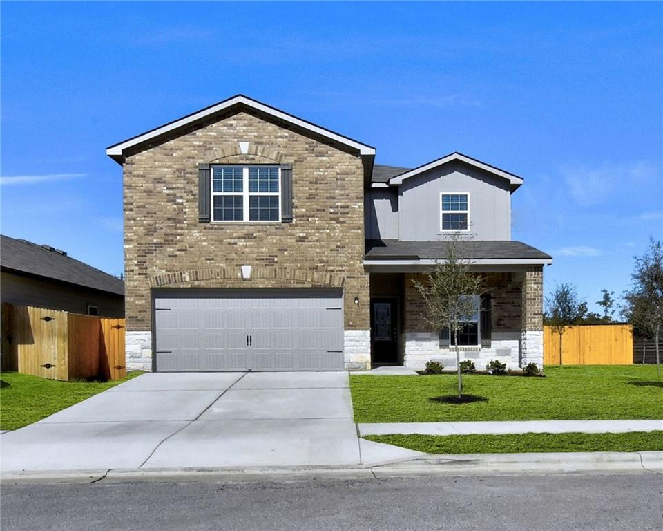 """The Victoria is a new 2-story, 5-bedroom, 2.5 bath home in the stunning community of Liberty Parke. Inside this home you will find thousands of dollars in upgrades including stainless-steel kitchen appliances, granite countertops, 42"""" wood cabinetry with crown molding, and attached 2-car garage with a Wifi-enabled garage door opener and more. The Victoria plan features a private master suite downstairs, an upstairs gameroom and 4 generously-sized additional bedrooms, complete with large walk-in closets."""