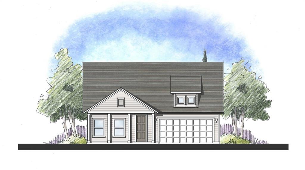 Built by Dream Finders Homes - February completion. Great home with 3 bedrooms, 2 full baths, and covered patio. Very open floor plan, kitchen has large island that overlooks large family room. White shaker cabinets, wood look tile, built in SS appliances, and granite counter tops. Home backs on to hill/greenbelt. A large covered front porch and an 8 ft door welcomes you to the home. Enjoy a quiet sunset from rocking chair on the front porch.