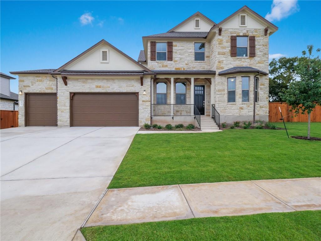 Brentwood plan. Ready for move-in. Gorgeous 2-story home in desired Ranch at Brushy Creek with Round Rock schools! Very large homesite across the street from the pond.  Low tax rate of 2.3496%. HOA $37.50/month. Won't last!