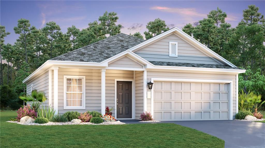 """Malvern A Plan. Estimated Completion January 2021. Beautiful one story home with lots of charm! Lovely kitchen with Silestone countertop and stainless-steel appliances. Beautiful vinyl plank flooring throughout with carpet in the bedrooms. This home includes an appliance package, 2"""" faux wood blinds, full sod and irrigation system!"""