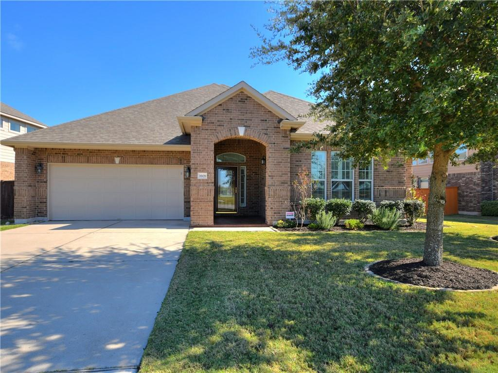 Breathtaking expansive one-story home in the beloved Avalon Community of Pflugerville.  This home has an amazing location, right across from the pool, park and club house. It's an open layout and full of upgrades! Plantation shutters, crown molding, as well as beautiful tile throughout the main living areas. Three bedrooms plus a bonus room which would make a great office, game or playroom! The kitchen has built in appliances, granite countertops and large center island. Two dining areas give plenty of room to entertain! The addition of double french doors bring in extra light to the family room! The garage has lots of nice built in cabinets and easy to clean epoxy floors! The current appliances convey (washer, dryer, refrigerator, and water softener) with the sale of the home.