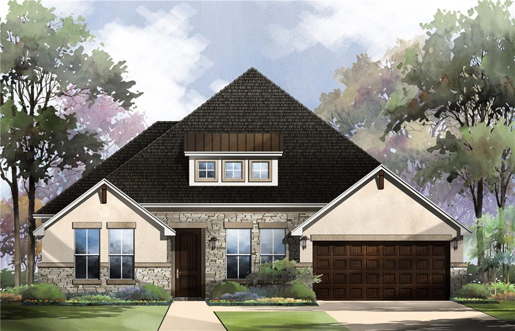 """Last Newton plan available on 70' lot on Creeks Edge View!  6' stone wall at rear provides extra privacy with dog park on opposite side.  Dynamite layout that works for just about everybody – 4 beds, 3 baths and spacious Flex Room.  Modern white/gray color themes with beautiful 7x36"""" Troms Gold wood-look ceramic tile in main living areas.  No need to dream… make this amazing house your reality!  ESTIMATED COMPLETION SUMMER 2021."""