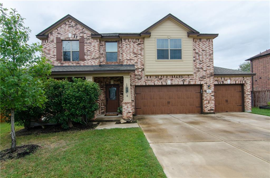 """""""Colorado Charm"""" meets """"Texas-Size"""" with this spacious cul-de-sac home with a THREE CAR GARAGE that was completed in 2014, and has since had significant upgrades to the flooring and walls. Wood flooring installed July 2020. The fresh paint was just completed in October 2020. All new carpet on second floor and stairs was installed October 2020. Great, open-floor plan with stainless/granite kitchen and double ovens. There is storage at every turn, and all bedrooms are over-sized with a large covered porch in the back. Public playground within walking distance."""