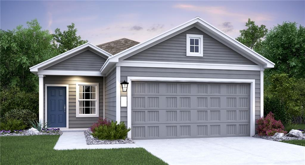 """Drexel Plan.  Beautiful one-story home with lots of charm!  Lovely kitchen with Silstone countertops and stainless-steel appliances.  Beautiful vinyl plank flooring throughout with carpet in the bedrooms.  This home includes an appliance package, 2"""" faux wood blinds, full sod and irrigation system.  Estimated February 2021 completion."""