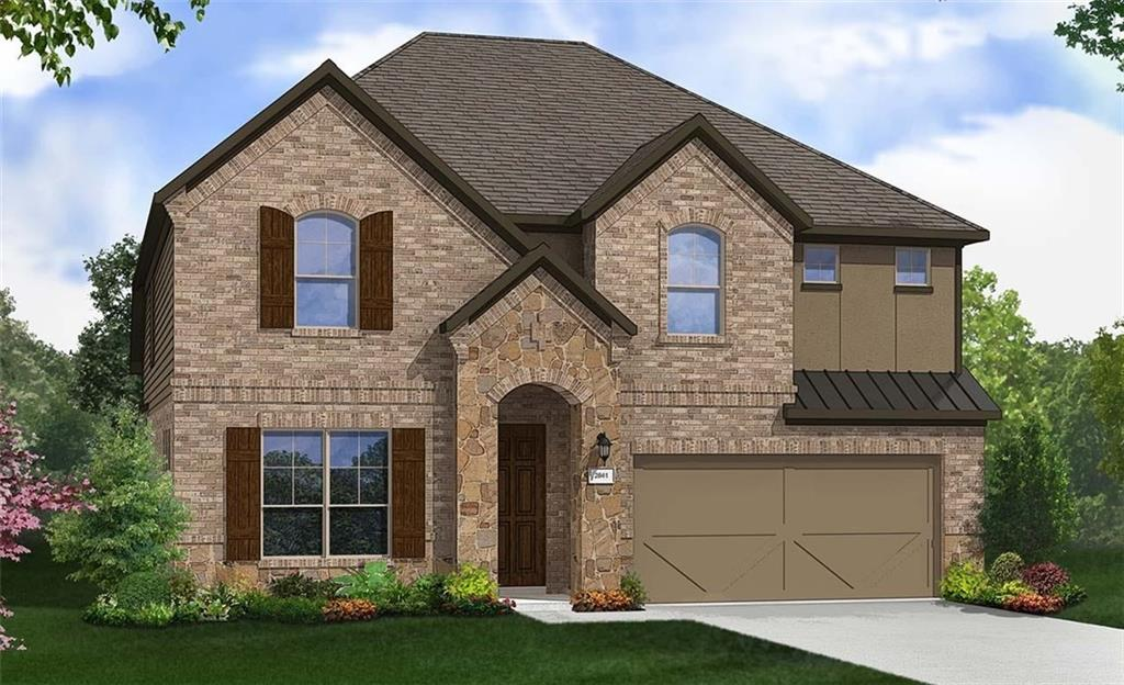 Magnolia floor plan on pie shaped cul de sac lot with features that include full guest bed/bath downstairs, extended covered patio, walk in master shower with mudpan, iron balusters, walk in master shower with mudpan at guest bath. Available March.