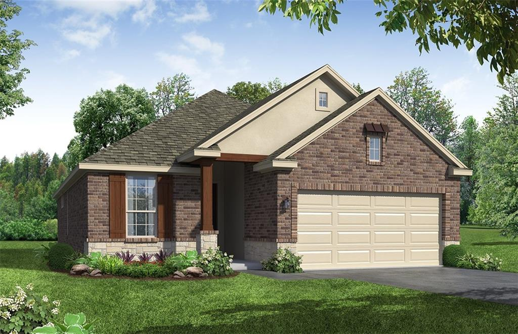 Charming 1 story home, 3 bedroom and 2 bath, open concept floor plan with a large kitchen island. Wood look tile throughout, stainless gas appliances and upgraded white cabinets. Beautiful bay window in the owner's suite. Upgraded owner's bath with granite and oversized walk in shower. Large covered patio with no neighbor behind.