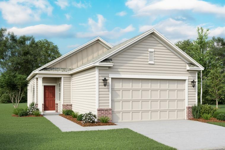 Spacious layout with open kitchen/family room.  Gourmet kitchen with granite countertops and undermounted sink.  Stainless steel appliances – refrigerator, stove, microwave and dishwasher. Fully sodded yard. Huge Closets and storage. No neighbors to the back! Ready to go March/April!