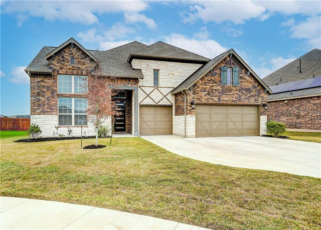 This large 4 bedroom 3 bathroom home is in a great location near the Blackhawk golf course. It offers a spacious, extended 3 car garage and an office with an excellent view of the greenbelt.  It lies within a cul-de-sac with walking trails just behind the home.  The extended covered patio is pre-wired for sound as you sit back, relax and enjoy the sunset.