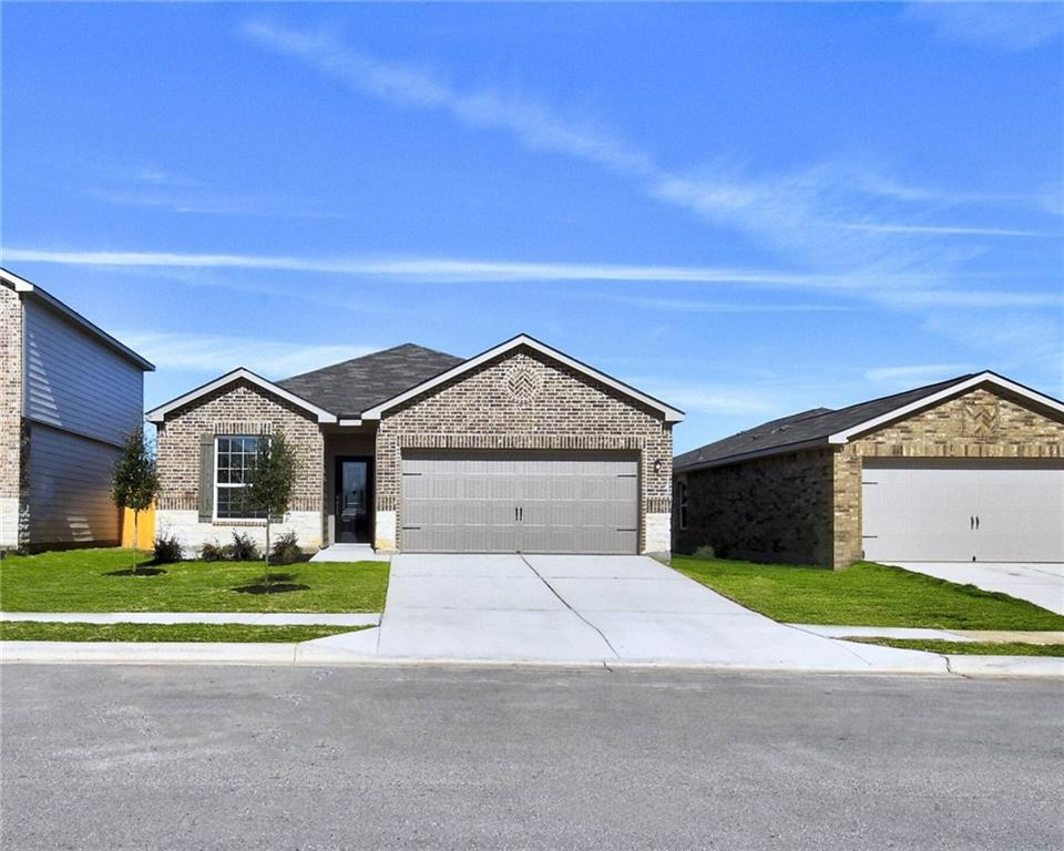 The Fannin is a charming, single-story home in the community of Liberty Parke. This home boasts 3 bedrooms, 2 full baths, an open family room and a private dining room. Stainless-steel appliances, stunning wood cabinetry with crown molding, granite countertops, and an attached two-car garage with a WiFi-enabled garage door opener are just a few of the incredible upgrades you will find inside this home. The Fannin also features a fully fenced backyard and a covered back patio.
