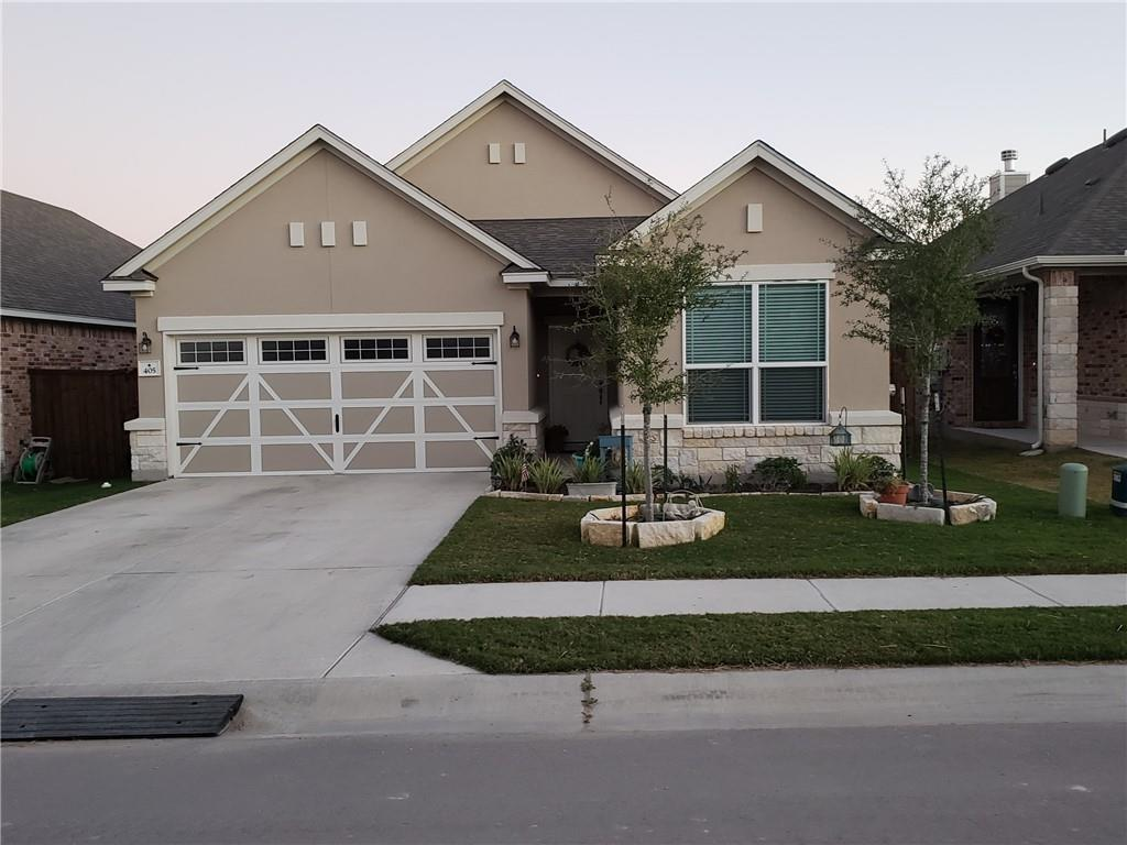 Beautiful golf course lot home with 4 sided stone and stucco. Fully landscaped and fenced yard with black steel and stone. Spacious covered porch with gorgeous view of the fairway. Upgrades and granite abounds in this perfectly sized modern constructed home under full warranty with 2 custom full baths. Enjoy the warm tones in the open concept kitchen, den, and dining areas, or sit and soak up the view out of the back windows. Plenty of cabinets, closets, and storage as well as a large pantry. A must see.