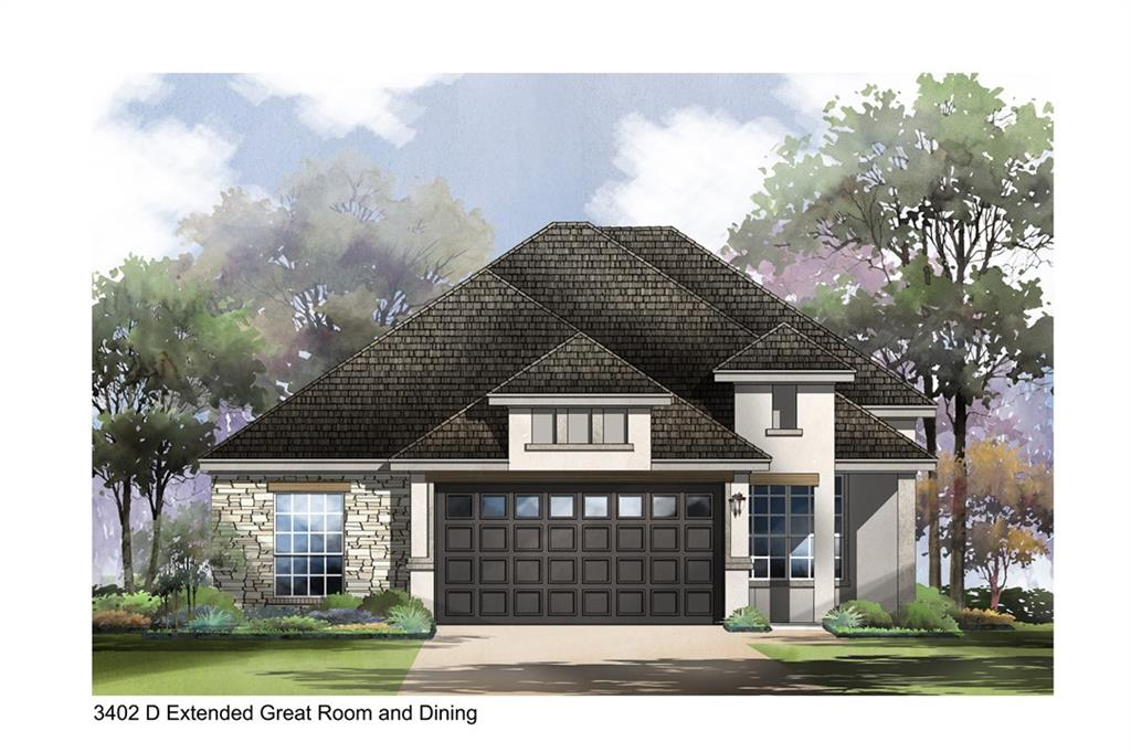New home under construction estimated completion spring 2021. Garden home with lawn maintenance included.  • Walking distance to amenities & trails • Front sitting area & iron front door • Entertainer kitchen w/ upgraded appliances & double ovens & under cabinet lighting • Large backyard & extended covered porch w/ T&G stained ceiling & pre-plumbed for outdoor kitchen • Full stone- floor to ceiling fireplace at Great Room • Expanded Great Room  w/ 12' ceiling and 10 windows bring in natural light around dining space • Hardwood floors in main living areas • Painted cabinets and upgraded light fixtures throughout whole home • Master Bath features double vanities w/ mirrors to the ceiling, frameless glass mudset shower w/ tile to the ceiling & freestanding tub