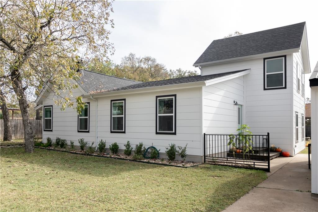Modern Farmhouse Extraordinaire*Within walking distance to the town square with shopping, outdoor bars, grocery*Garage conversion to a she shed/office/guest room with a new ac unit*Added front landscaping and raised garden beds in back*New water softener, water filter built in the sink/counter, Boch dishwasher, bathroom mirrors, light fixtures, hardware to all the cabinets, faucets in most of the house*Added canned lighting in the living and dimmers to main area light switches