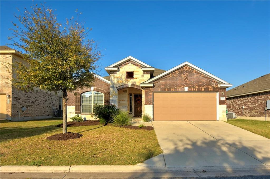 Beautifully maintained home, like-new condition. Large open kitchen, dining, and living area. Separate suite with primary bath and double vanity with garden tub and tile shower.  granite countertops in the kitchen, covered back patio, underground sprinklers. Move-in ready! HOA includes a playground, tennis court, clubhouse with pool, and hot tub.