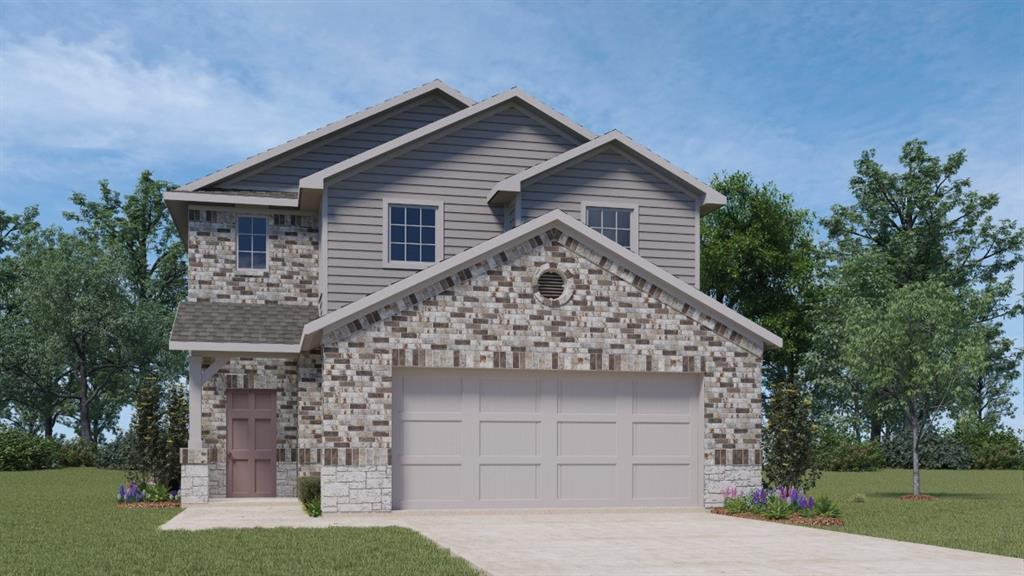 UNDER CONSTRUCTION - EST COMPLETION IN MARCH 2021.  This master down plan features granite counters, stainless appliances, and white cabinetry. Baths have quartz counters, tile surround in showers and a double vanity at master bath. Extended wood looking vinyl into living & hall area. Full sod, irrigation, gutters and a covered back patio overlooking 125 acres owned by PISD. Ask about the technology package and warranty coverage!