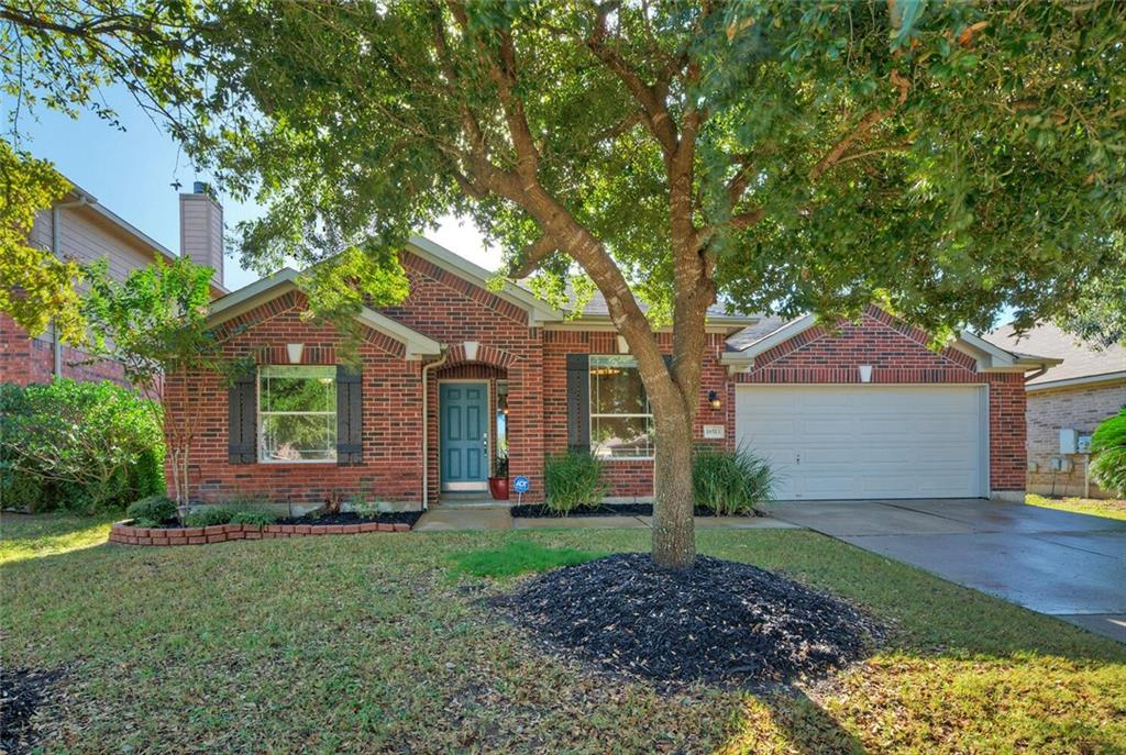 Beautifully upgraded and maintained red brick single-story home with amazing floorplan. 4 bedrooms PLUS study. Gorgeous wood-look tile throughout most of the home, custom tile in primary bathroom. Abundant natural light. Large primary bedroom and bathroom (dual vanities, garden tub, separate shower, glass block). Two-tone cabinets in open island kitchen. Gas fireplace. Spacious back yard with lovely landscaping. Covered back patio with ceiling fan. Located near Costco, Stone Hill Town Center shopping, convenient to 45 and 130 toll roads. Great community with playground, pool, half basketball court, soccer field, more.