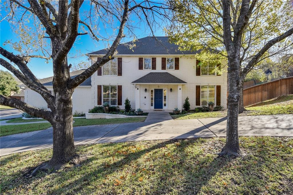 WOW! Beautiful, updated home in Oak Bluff Estates. 1.03 acre lot with most of it dedicated to the fenced (upgraded redwood fence) in back yard. 5 beds, 3.5 baths. Majestic curb appeal! Primary bedroom down, four full bedrooms up. Upgrades include interior paint, blinds, cabinets in kitchen and laundry room refinished and painted, all full bathrooms updated, new wooden shutters. ALL NEW WINDOWS! Professionally landscaped. Recently serviced irrigation system. Upgraded security system with 8 cameras and DVR recorder. Excellent schools and bus pick up right in front.