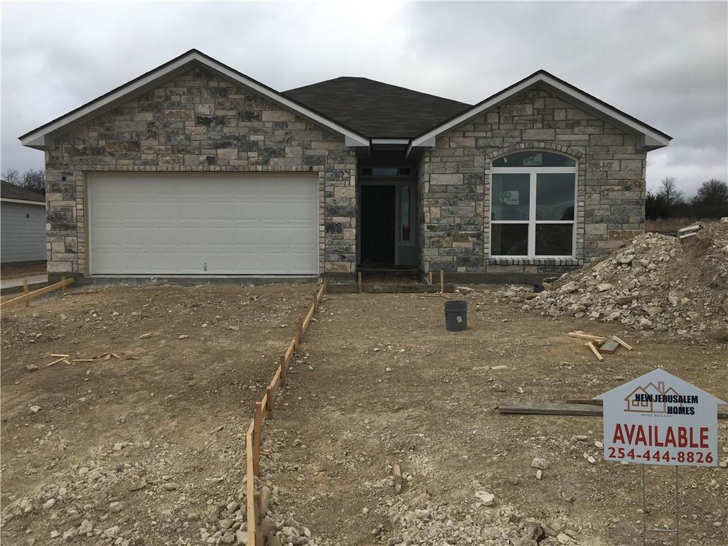 WOW! New Construction below $180K in north Temple's newest subdivision - Monte Verde. Located on W Nugent Ave between I35 & Dodgen Loop will have a walking trail to Kennedy Powell Elementary. Not your typical cookie-cutter spec home. Easy on/off to I35. New Jerusalem Homes welcomes Buyer selections and upgrades are available if you choose. Base finishes & selections are very nice though!