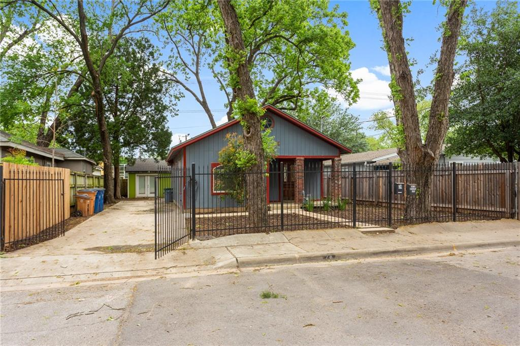 "Rare opportunity to snag a large lot with two units, just a stone's throw from Lady Bird Lake and the Hike & Bike Trail - you can literally see the trails as you step out onto the front yard! Both units are fully permitted, unrestricted land, and currently leased on a month-to-month term. The primary home (""blue"" at 74 Julius) is a 2 bed/2 bath home and approx 800 sq ft, originally built in the 1930's but underwent significant remodeling/rehab in the last 10 years. The secondary property (""green"" at 75 Pedernales) is a 1 bed/1 bath home and approx 675 sq ft, gutted to the studs and rebuilt, fully permitted, by the current owner. Each property has great privacy with its own driveway and entrance. Options are endless - occupy and rent, keep as an investment, and/or develop. Separate utilities for each unit with exception of water and wastewater (billed to blue & included in rent). You'll fall in love with the Holly District's treelined streets and vintage charm while enjoying all Austin has to offer; just West of Holly, Rainey Street, and East Cesar Chavez are alive with nightlife, food trucks and live music spots, you'll find fantastic local eateries, all while catering to the outdoor lifestyle!"