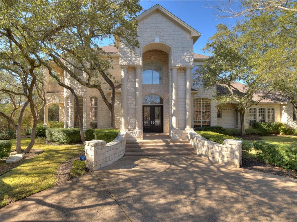 This featured home is in prestigious Tanglewood Estates.  Properties rarely come on market in this exclusive enclave of luxury homes.  Built by Doug Scott, the finish work in this home is stunning.  Layers of moldings and architectural detail throughout.  High-end appliances in the chef's kitchen along with storage and countertops galore make this kitchen a joy to cook in!  The upstairs owner's suite features a sitting room, fireplace, sauna, soaking tub, very large shower, bidet, walk-in closet by California Closets and front and back balconies over-looking a very private, wooded lot.  Large media room with built-ins, patio access and a wet bar and powder room make entertaining a breeze!  This area could also be converted into a guest suite (if desired).  A grand foyer with staircase and chandelier make for an impressive entry.  A formal dining room and piano/sitting/office are also off the entry.  All this and more in this one of a kind, custom built luxury home in Round Rock ISD (Round Rock High School).  Walking distance to Round Rock hospital and minutes to all amenities the Round Rock and surrounding areas have to offer. This is a must see home for the discerning buyer and will not last!
