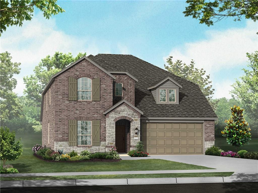MLS# 6651152 - Built by Highland Homes - To Be Built! ~ 2-story, 4 sides brick, extended outdoor living, master bay window, master bath has shower and free-standing tub upgraded kitchen, white cabinets, stainless-steel kitchen  appliances, dishwasher, disposal, cooktop, microwave and over. Plank vinyl flooring in living areas, wet areas, and entries. loft overlooking family room and with upgraded railings and stair railings, beautiful horizontal design. Sod and in-ground sprinkler system in front, sides and back yards...