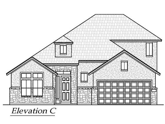 Chesmar new build! Our very popular Bryson floor plan! A true 1.5 story home with game room and powder room upstairs and all other bedrooms as well as the study downstairs. Huge oversized lot, white shaker cabinets, beautiful marble mosaic backsplash and gorgeous quartz countertops set this home apart! *Pictures represent floorplan only*