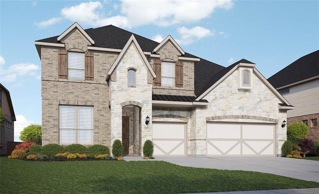 """Popular Dartmouth plan with features that include 2 story family room, corner lot, bath 4, 43"""" scion linear fireplace, door to utility from master closet, study in lieu of living room. Available May."""