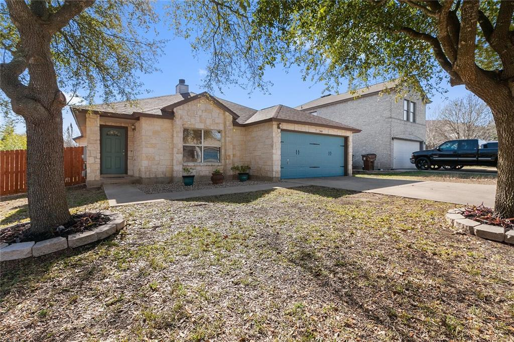 Conveniently located off of TX-45, this home has great accessibility to IH-35 or TX-130! The Flower Hill community is just minutes to local shopping, dining & entertainment. Within the community you'll find access to High Country Park, complete with a basketball court, picnic tables and BBQ grills. This property is located on a quiet cul-de-sac street with beautiful mature trees. An open concept floor plan, with the living and dining space open to the recently updated kitchen. The interior has hard surface flooring throughout, and recent paint. No carpet! Seller will be reviewing any offers on Tuesday 1/19 at 10 am. Please submit no later than 8 pm on Monday 1/18.