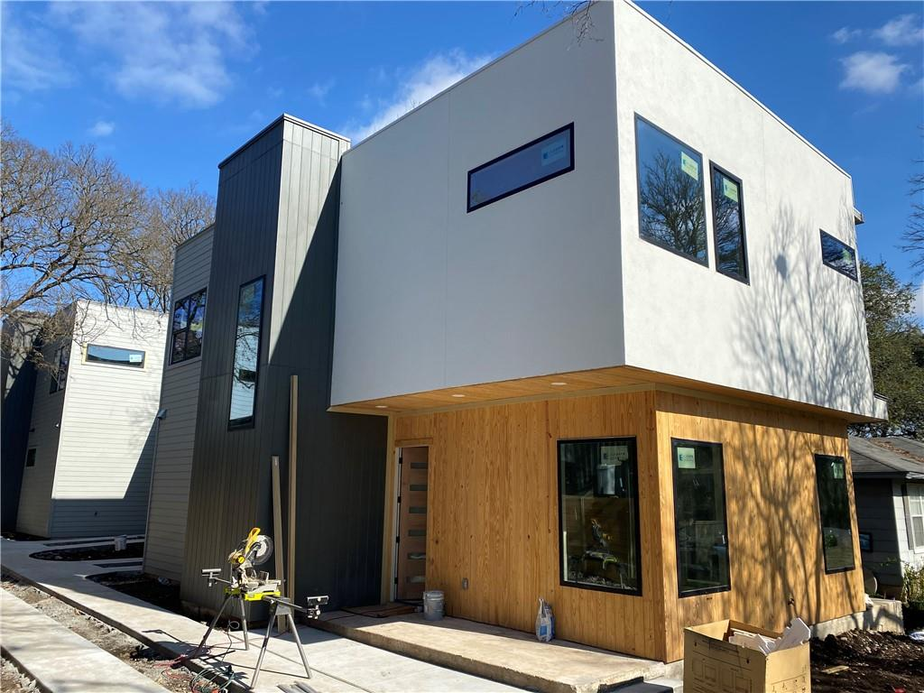 Beautiful brand new build on a large lot with great trees in a new thriving neighborhood not far from downtown ATX. Must see, great modern finishes and open floor plan. This home still under construction but completion is expected in 30 days. HOA is required only to share with neighbor and owner controlled.