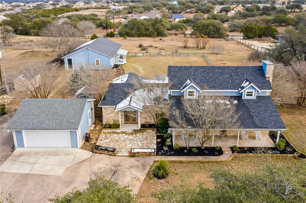 Cozy comfort of the Hill Country meets Modern Chic interior design! The main house was remodeled in 2018 with quartz countertops throughout, french oak wood floors, crown molding, butler pantry and large eat-in kitchen island. The detached 1 bedroom apartment and office were remodeled in 2017 with the same aesthetic as the main house, which gives you an additional 1700 sqft. All of this sits on 1.94 acres.