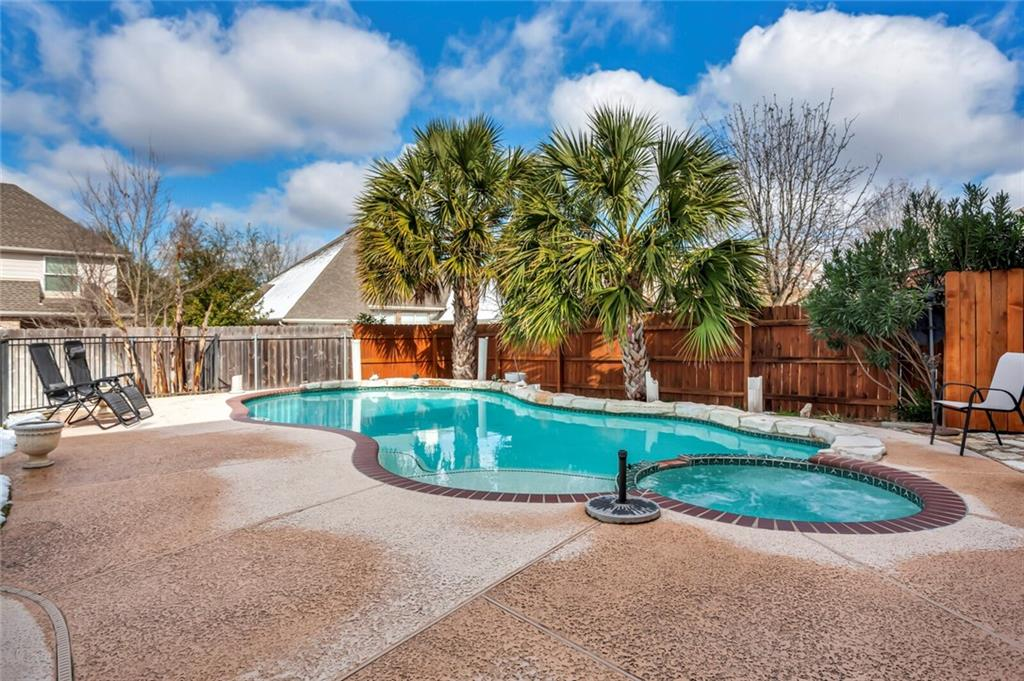 Multiple offers, best and final offers by Monday at 8am. Countless showings.  Preferences by the seller are highest price, normal or quicker closing, higher option/earnest money, appraisal waiver, etc. Rare almost 4000 sqft home in prestigious Lake Forest with heated pool and hot tub! 6 bedrooms (6th bed is an office without closet), 3.5 bath. This home is one of the most clean & well taken care of homes you will ever see! Newer 16 seer ACs, newer appliances, fence, pool equipment, and water softener. Family room has soaring ceilings with a wood burning fireplace, open to the kitchen with tons of cabinet and counter space, SS appliances and gas cooking. Primary/master bed and office downstairs with large ensuite bathroom with double vanities, garden tub, separate shower, & walk in closet. Large game room, huge secondary rooms, extended patio overlooking sparkling heated Pool & Spa, Mower and washer and dryer will stay with the home. Must see!