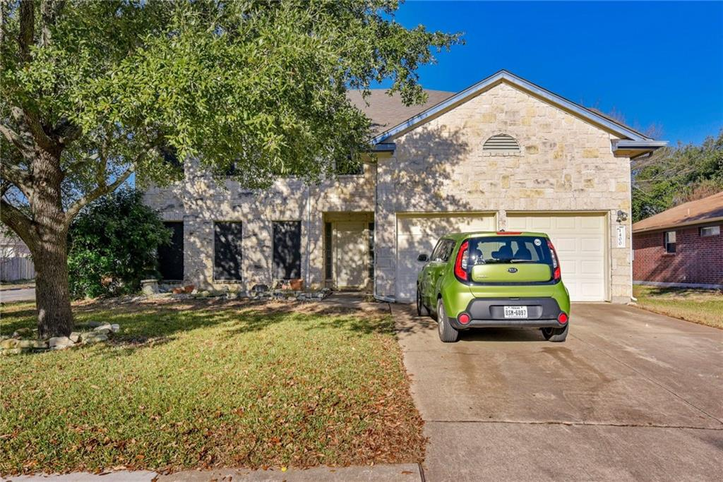 Home sold As-Is-and priced to sell!  Needs some TLC and is priced to reflect that.  Formal dining room, spacious family room with stone fireplace, and loft upstairs.  White stone exterior on corner lot.  Great location convenient to schools, shopping (HEB Plus and Outlet Mall), hospital, etc.