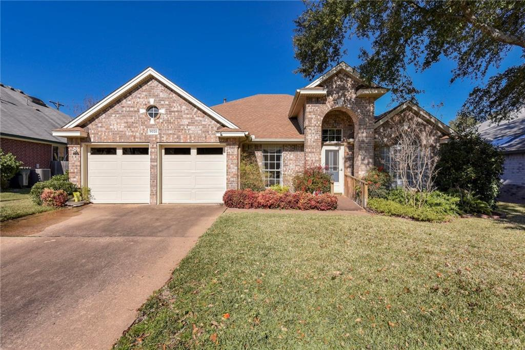 Unique opportunity to own this awesome single story in Meadows at Brushy Creek! INCREDIBLE location - only 2 miles to 45 Toll, 4 miles to IH35, 4 miles to Mopac! 3 bedrooms plus a large study with closet! Great spacious and open floorplan - huge formal living/dining area with an abundance of uses, large kitchen with tons of countertop and cabinet space.  Kitchen is open to family room where there are high ceilings and tons of windows overlooking the manicured backyard.  The master bedroom is jaw-dropping.  This huge room features two closets (one in the bedroom and the other in the master bath).  Bathroom features dual vanities, separate shower and large linen closets. The two guest bedrooms are large and provide plenty of space and storage. Backyard features a huge covered patio with plenty of space for entertaining and a very well-loved and maintained yard.